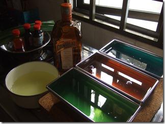 Cointreau 40% alcohol, pandan flavouring