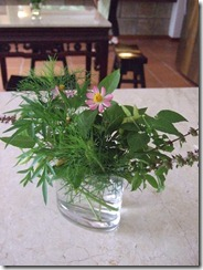 Table flowers from garden....