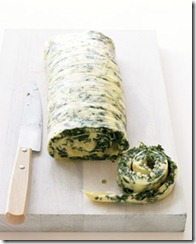 Family-Style Rolled Omelet with Spinach and Cheddar
