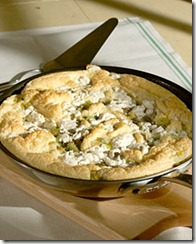 MSE Souffled Frittata with Leeks Tomatoes and Goat Cheese